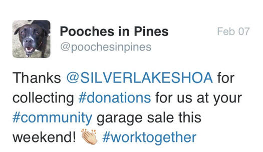 Thank you Tweet from Pooches in Pines